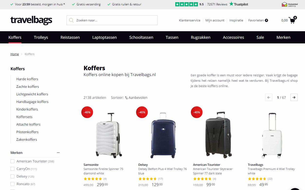 koffers online kopen