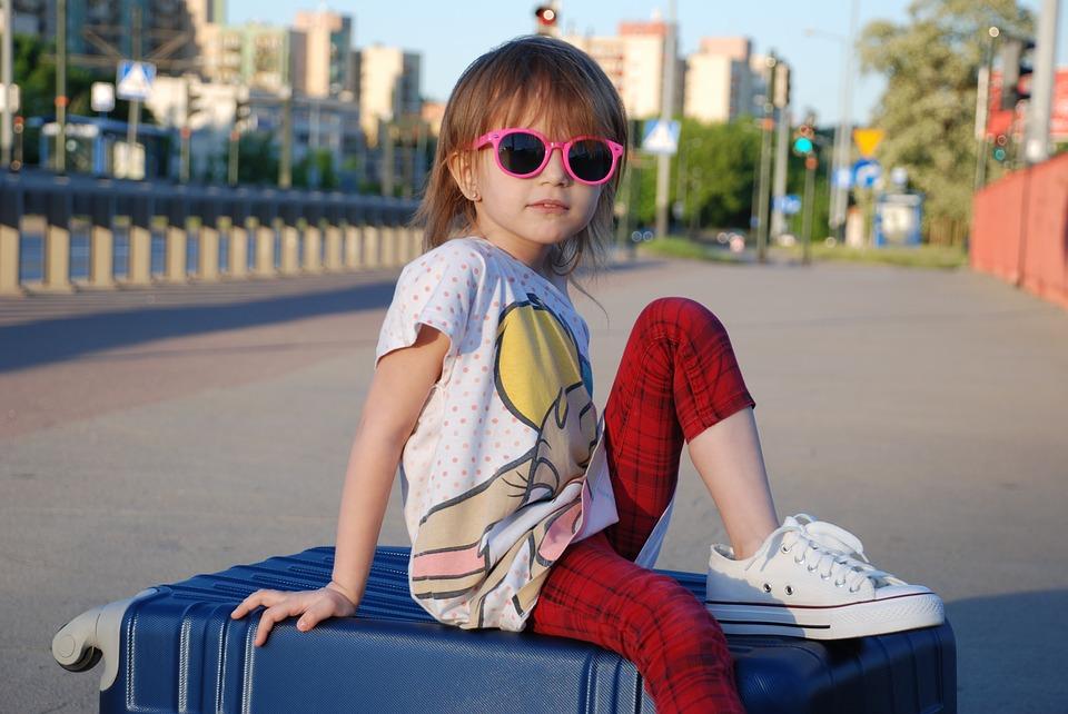 Kinderkoffer om op te zitten