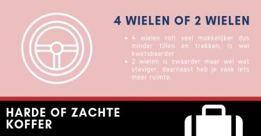 Infographic Stappen die je kan maken bij het kiezen van de perfecte koffer